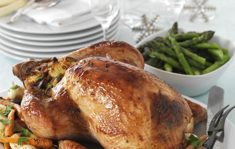 Christmas Turkey.Roast Turkey With Festive Christmas Stuffing