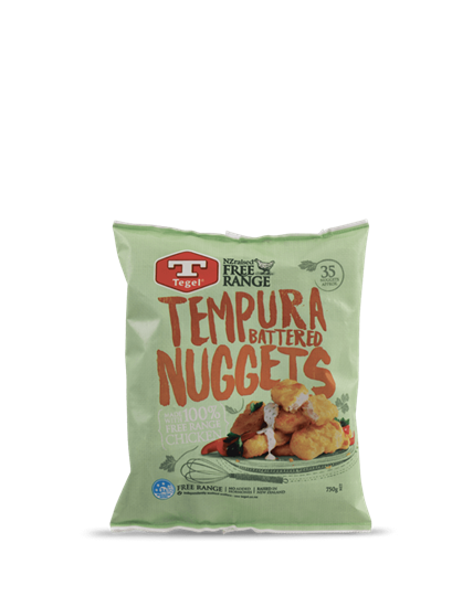 Tegel Free Range Tempura Battered Chicken Nuggets 750g