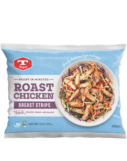 Tegel Roast Chicken Breast Strips 400g