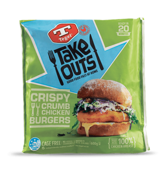 Tegel Take Outs Crispy Crumb Chicken Burgers 600g